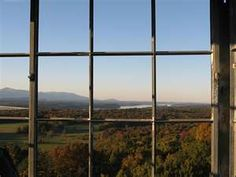 View from Ferncliff forest over looking the Hudson, the Rhinecliff-Kingston bridge and the Catskills.