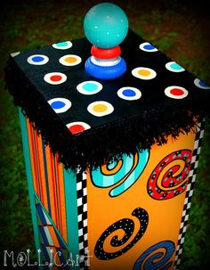 Painted Storage Box by mollicart on Etsy