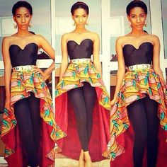 African Print High Low Peplum Belt Ankara by AfricanModernFashio