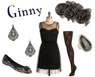 outfits inspired by Ginny. Recreation of her wedding outfit
