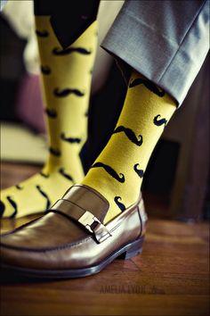 moustache socks!
