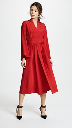 Adam Lippes Kimono Dress with Belt