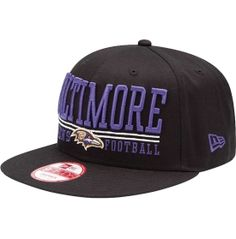 New Era Men's Baltimore Ravens Black Lateral 9Fifty Snapback Hat - Dick's Sporting Goods