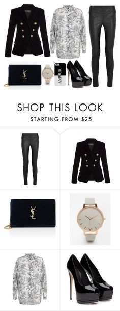 """""""Freestyle"""" by nicolesynth ❤ liked on Polyvore featuring Tom Ford, Balmain, Yves Saint Laurent, Olivia Burton and Cameo Rose"""