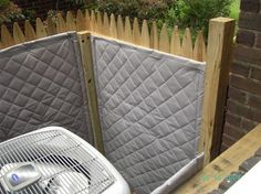 Reduce Outdoor Noise with a Sound Blocking Fence Pool Equipment Enclosure, Pool Equipment Cover, Ac Unit Cover, Ac Cover, Hide Ac Units, Air Conditioner Cover Outdoor, Air Conditioning Units, Outdoor Cover, Outdoor Doors