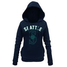 Women's Seattle Mariners 5th & Ocean by New Era Navy Hot Corner Pullover…