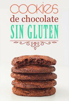 Postreadicción galletas decoradas, cupcakes y pops: Cookies de chocolate sin gluten