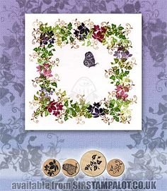 SO: Rubber Stamp Tapestry - Demi Dahlias