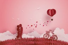Illustration of love and valentines day vector bonus Happy Valentines Day Photos, Valentines Day Clipart, Valentines Day Memes, Love Valentines, Valentine Day Cards, Origami Ball, Diy Origami, Photos Saint Valentin, San Valentin Vector