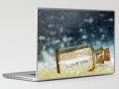 Message in a bottle...laptop & iPad skin - by: Lisa Argyropoulos - $30.00