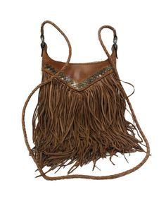 Tan Fringe Bag