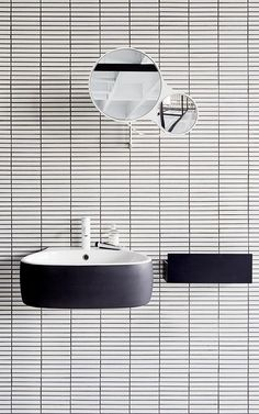 Monochrome bathroom. #design