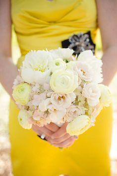 pale yellow flowers #yellow #bridesmates #dress