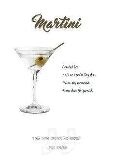 Popular Bar Cocktails Martini #Displate artwork by artist \