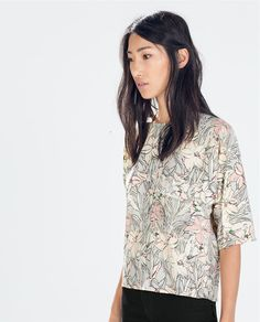 Image 1 of FLORAL PRINT TOP from Zara