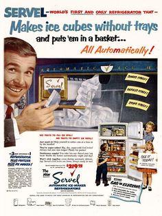 Servel Refrigerator, 1953