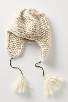 Winter White Ear Beanie Tobogan