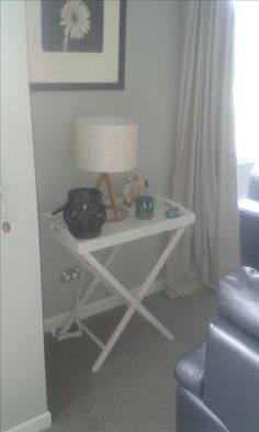 White Washed Butler's Tray Table