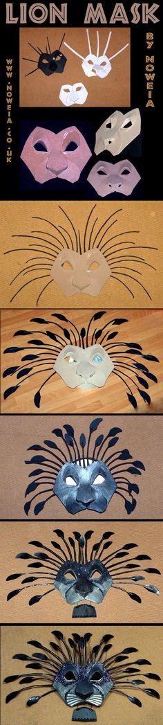 Animal art-for identity project? Making of Lion King Fanart Mask by Noweia. DeviantArt.