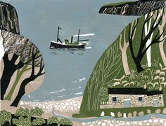 The Cottage on the Headland 6/10 by Melvyn Evans