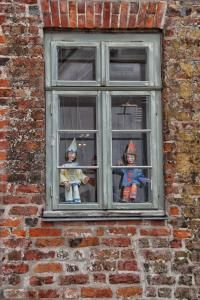 Fenster Theater Museum Figuren