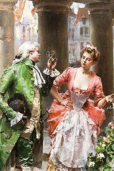 The Flower Seller  Henri Victor Lesur (1863-1900)