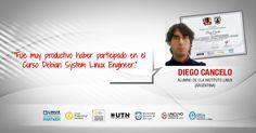 Testimonio - Diego Cancelo - Curso Linux - Debian Linux System Engineer - Plan de formación de administradores de redes linux - Carrera Linux