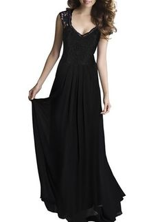 Cheap maxi dress, Buy Quality chiffon maxi dress directly from China long dress Suppliers: New elegant sleeveless V-neck lace embroidery chiffon maxi dress robe vestidos women's evening party long dresses Elegant Maxi Dress, Lace Evening Dresses, Chiffon Maxi Dress, Lace Dress, Lace Chiffon, Lace Maxi, Lace Bodice, Cotton Lace, Gown Dress
