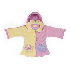 Irresistible and eye-catching, these stylish, upscale coats are the core of a Kidorable ensemble. Lotus all-weather raincoat for your little girl. It is more than just a raincoat, it can be worn every day, all spring, summer and fall. Featuring an enchant