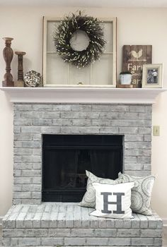 30 Interesting Fireplace Makeover For Farmhouse Home Decor. If you are looking for Fireplace Makeover For Farmhouse Home Decor, You come to the right place. Below are the Fireplace Makeover For Farmh. Cabin Fireplace, Small Fireplace, Fireplace Remodel, Fireplace Design, Fireplace Ideas, Fireplace Mantles, Fireplace Decorations, Rustic Fireplace Decor, Fireplace Shelves