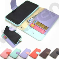 """For iPhone 6 4.7"""" synthetic Leather wallet Case cover Quick Stand magnetic hold #phoneadd"""