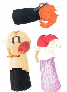 Frida Kahlo paper dolls by Francisco Estebanez http://www.pinterest.com/halinakaminski/dolls-4-paper/