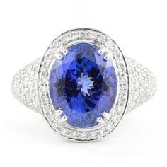 5.23 carat Tanzanite with Pave Diamonds   Wixon Jewelers