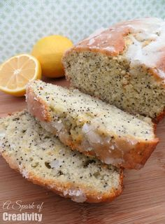 Lemond Almond Poppyseed Bread - A Spark of Creativity