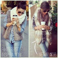 #fallfashion #faux #vest #apricotlanedallas #apricotlane