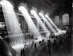ICONIC architectural image maker #6: Bernice Abbott, Grand Central Station, NYC. Space, light, scale...GRANDEUR!