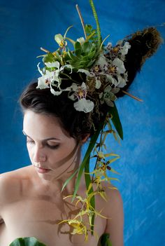 more  of the Ladies with Rebecca Stark Photography #nudephotoswithflowers #flowersinyourhair #orchidsinhair #wildhairandflowers #orchidsinyourhair #succulentsinyourhair