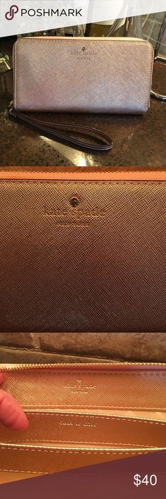 KATE SPADE WALLET/CLUTCH, rose gold. Beautiful!! KATE SPADE WALLET/CLUTCH, rose gold. Beautiful!!  Excellent condition!! kate spade Bags Clutches & Wristlets