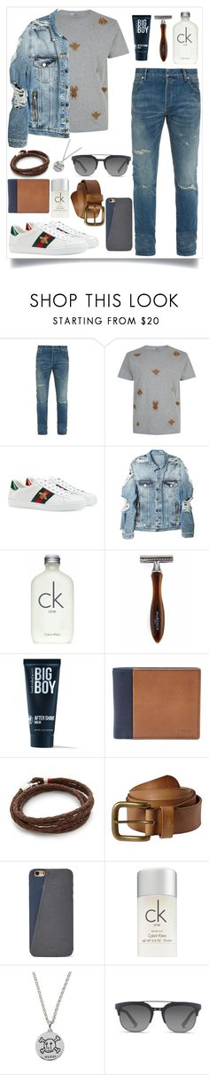 """Mens Wear"" by summerlife4 ❤ liked on Polyvore featuring Balmain, Valentino, Gucci, Calvin Klein, The Idle Man, 21 Men, FOSSIL, MIANSAI, prAna and Dolce&Gabbana"