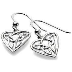 Boucles d'oreilles en argent Heart Knot