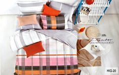 Check bedsheet 100% Cotton king size
