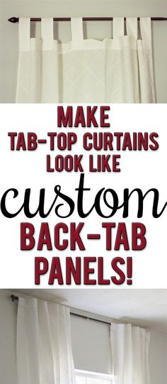 Easy, high-impact fix to update your tab-top curtains! So quick and simple! Tab Top Curtains, No Sew Curtains, Window Curtains, Curtain Panels, Ikea Curtains, Bedroom Curtains, Brown Curtains, Purple Curtains, Sheer Curtains