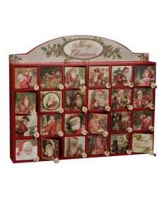 Vintage Santa Box Advent Calendar by Primitives by Kathy #zulily