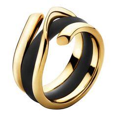 Magic Guld Ring Med Gummiring, Georg Jensen