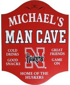 Personalized Man Cave Sign - University of Nebraska Cornhuskers...........Brandon's man cave!