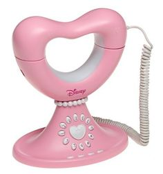 Pink Memorex Disney Princess Home Phone, Heart Design Corded Telephone - Girls' Walt Disney Princesses, Antique Phone, Princess Toys, Retro Phone, Vintage Phones, I Believe In Pink, Old Phone, Everything Pink, Pink Aesthetic