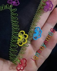 Olay, Crochet, Bracelets, Earrings, Instagram, Jewelry, Herbs, Embroidery Ideas, Hand Embroidery