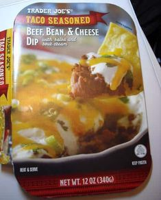 Trader Joe's Beef, Cheese, Bean Dip – 1 Points + Source by Superbowl Food Ww Recipes, Low Calorie Recipes, Healthy Recipes, Healthy Options, Drink Recipes, Healthy Meals, Healthy Eating, Weight Watchers Appetizers, Weight Watchers Meals