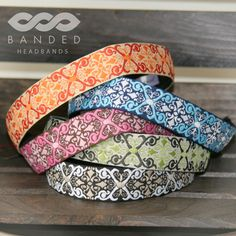 Some of the great patterns offered in Banded 1 inch headbands!