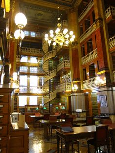 Located on the second floor of the Capitol building, the Iowa State Capitol Law Library features beautiful spiral staircases and balconies with decorative cast-iron railings. It is also home to one of the largest-combined law collections in the United States.